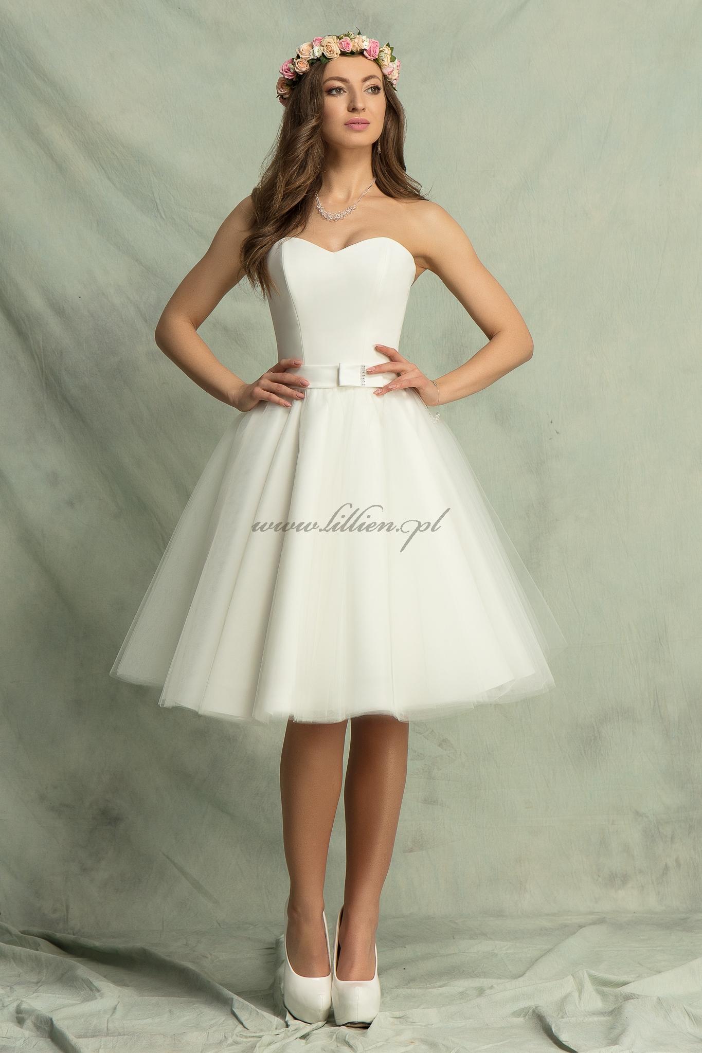 91109102d4 Suknia ślubna A 362 Krótka - Wiele kolorów - Bolerka